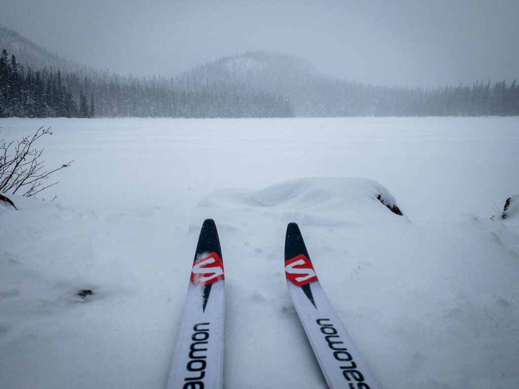 The cross-country ski trail to Watridge Lake is good for beginners