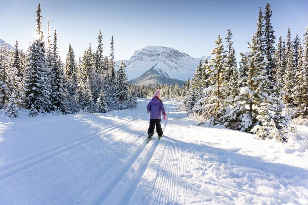 The Watridge Lake Trail is an excellent location for cross-country skiing in December in Kananaskis.