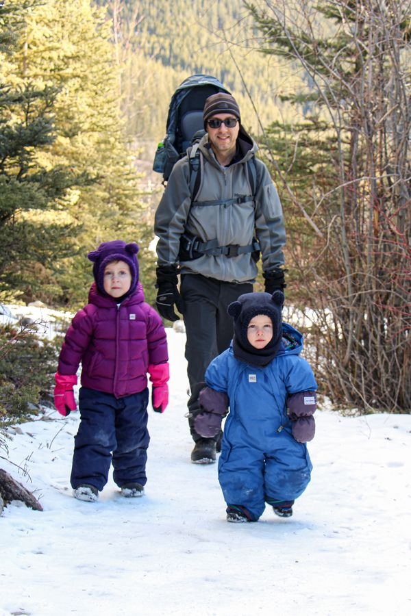 The shade and wind found on the Grotto Canyon hike in winter make it feel colder than forecasted - dress in layers