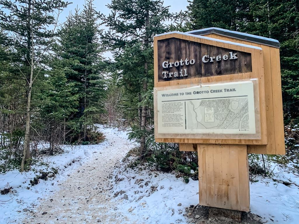 Grotto Creek Trail is where you will find the Grotto Canyon Ice Walk