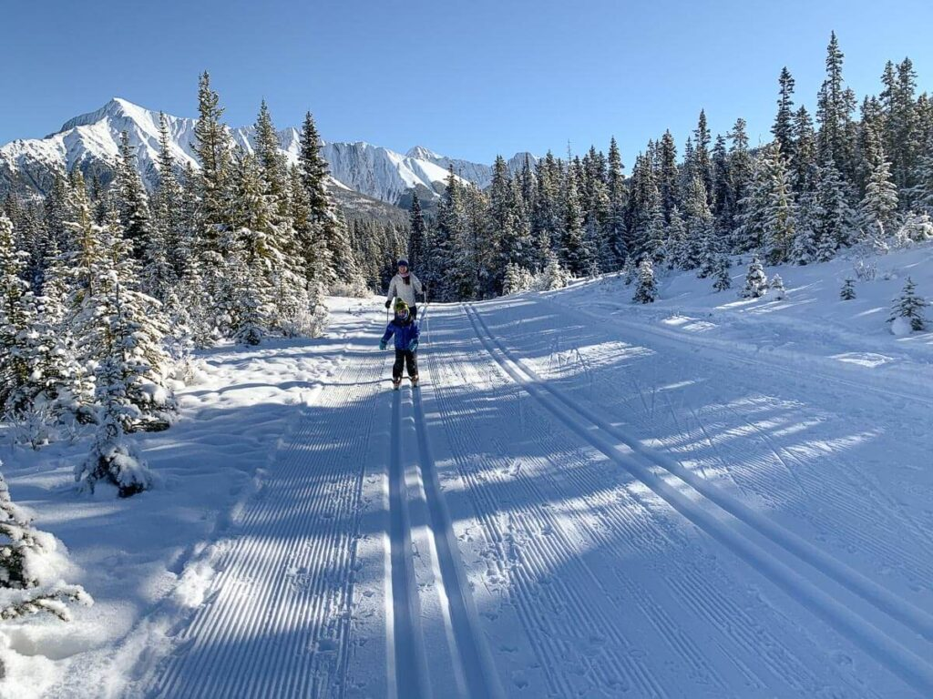 Watridge Lake Trail is one of two easy cross country ski trails at Mt. Shark, Kananaskis Country