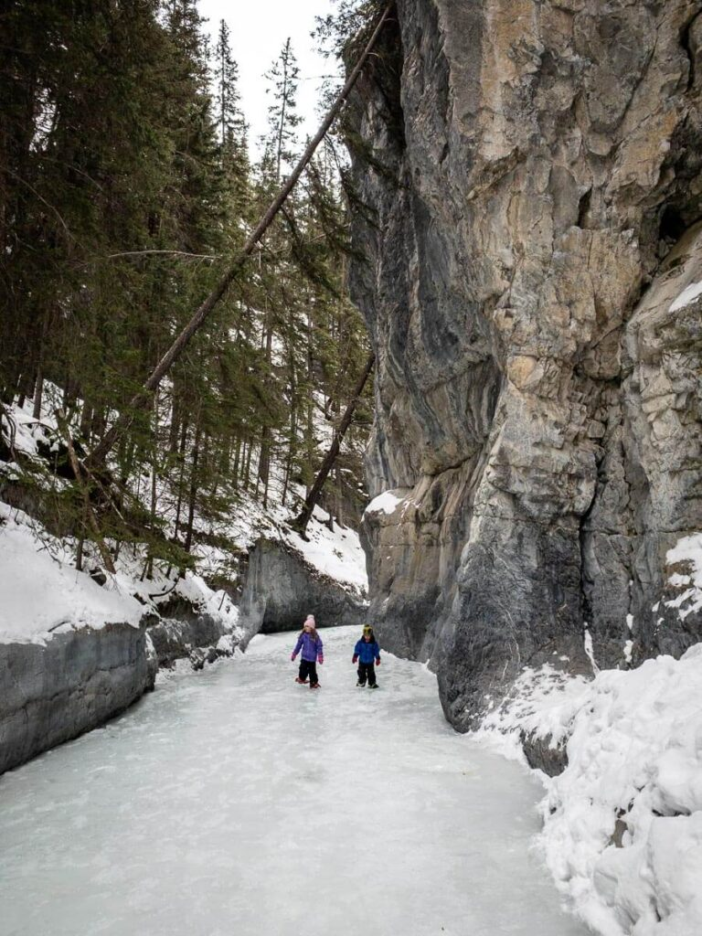The best time of year to hike the Grotto Canyon Ice Walk is typically later in the winter