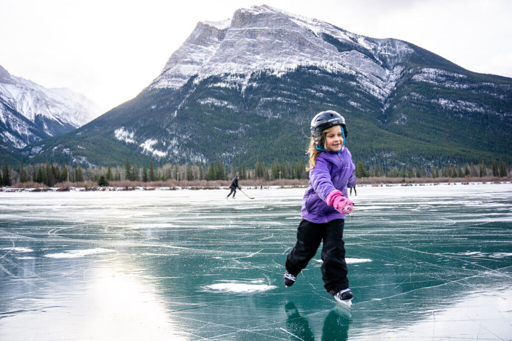 places to ice skate around canmore