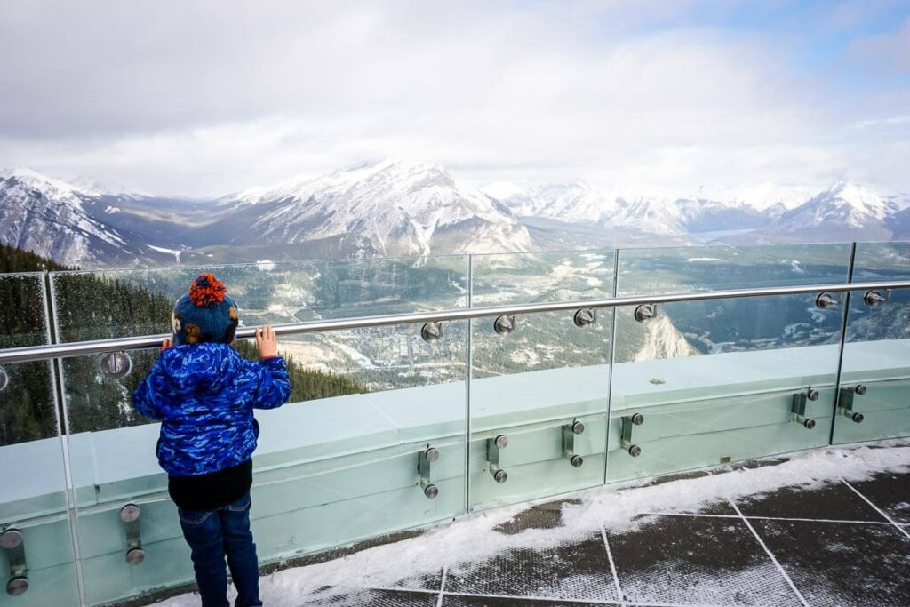 View from Sulphur Mountain in Banff
