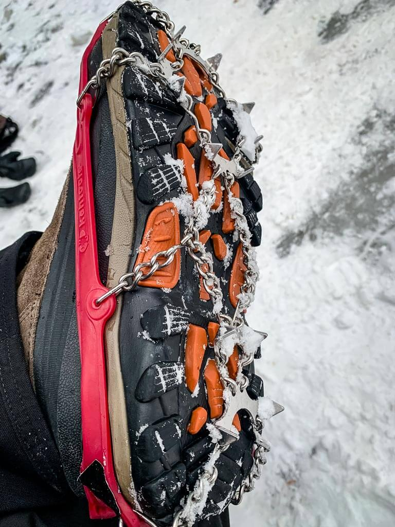 We use micro spikes for winter hiking in Kananaskis