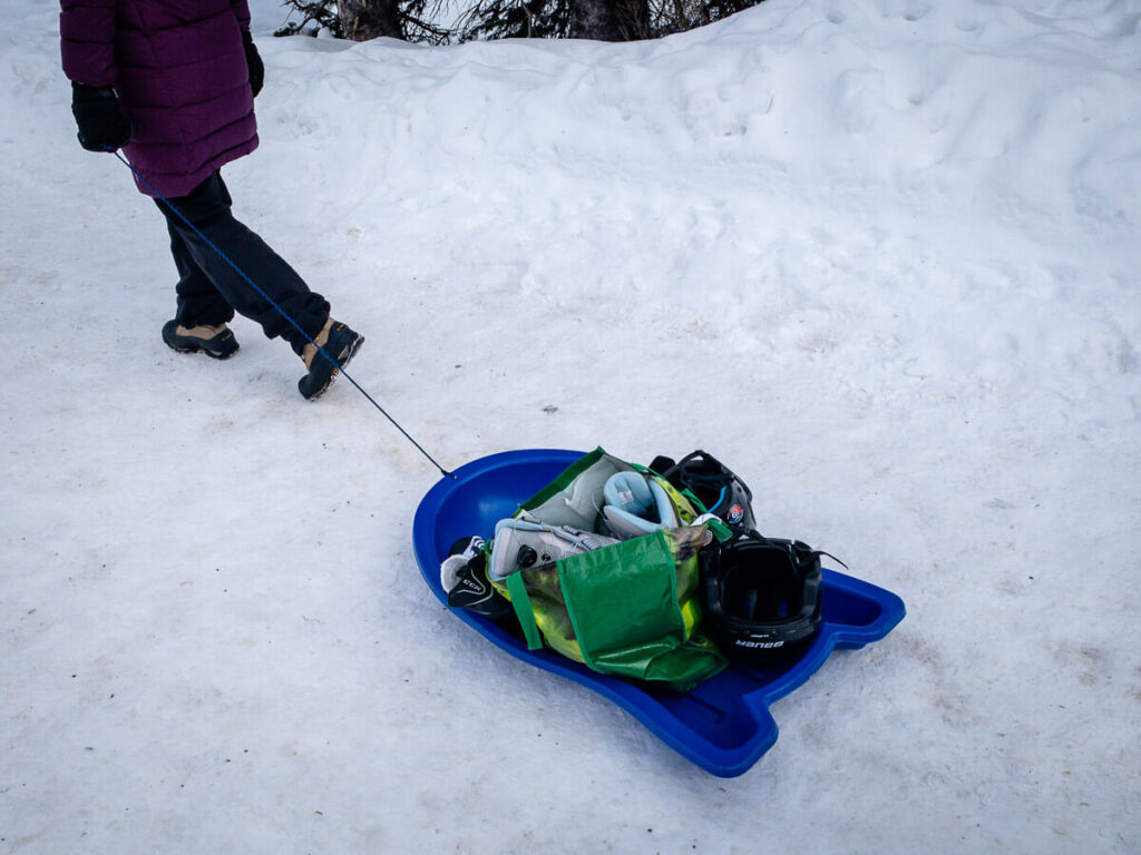 what to bring skating in banff