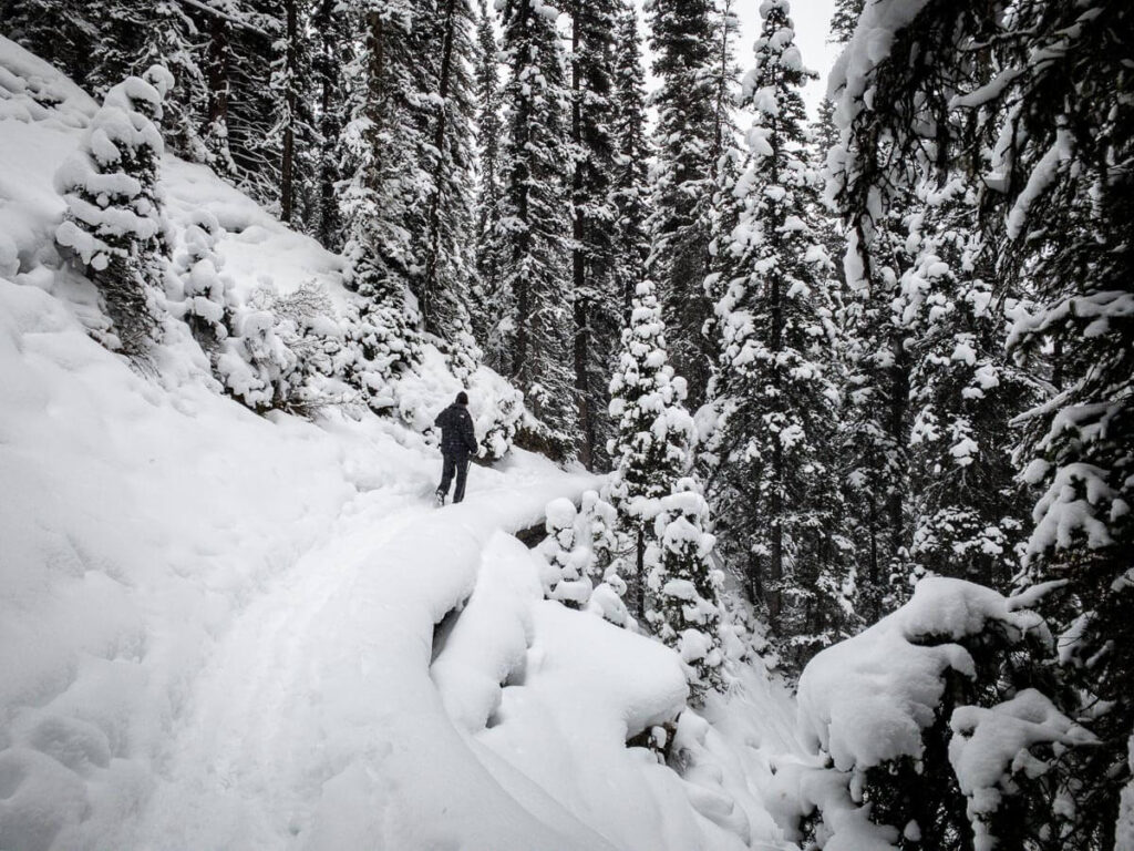 A winter hike up Karst Spring Trail is a fun add-on to the multi-sport Watridge Lake Trail