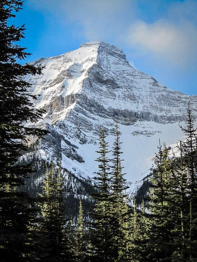 Amazing snow capped mountain views on Sawmill Kananaskis snowshoe trail