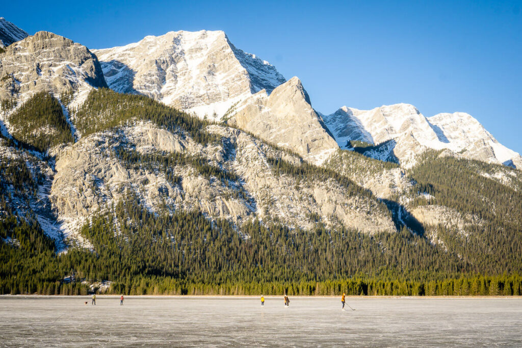 places to ice skate in banff and area