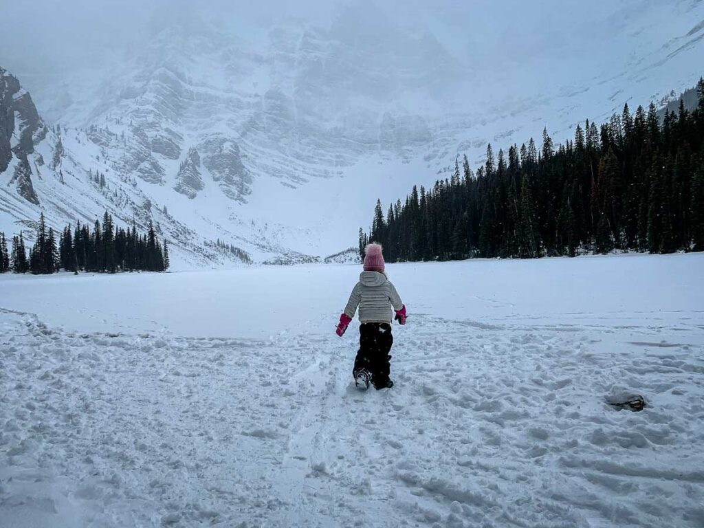 If you want to enjoy the outdoors while visiting Banff in January, try some amazing Kananaskis snowshoe trails such as Rawson Lake Trail