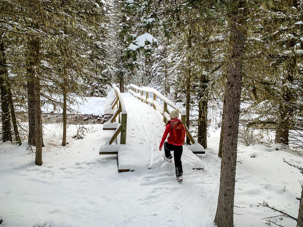 Snowshoeing in Banff in winter is so beautiful