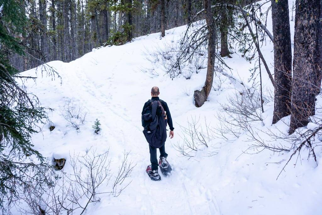 The Cascade Amphitheatre trail on Cascade Mountain, Banff is challenging