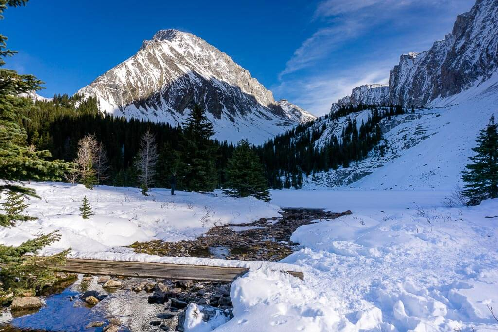 Chester Lake is one of the best winter hikes in Kananaskis