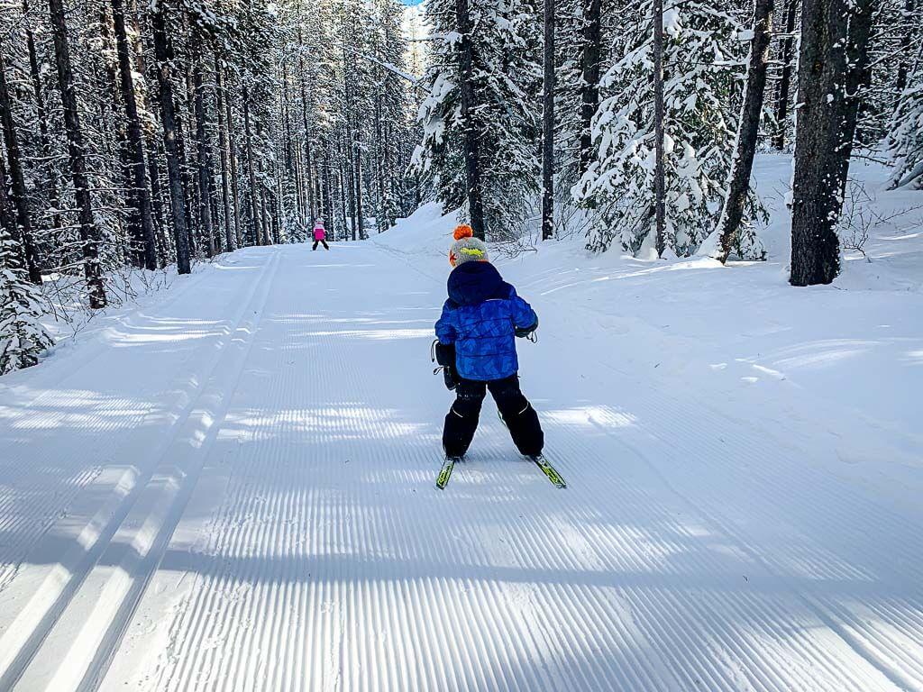 Cross Country Skiing with Kids - Wheeler Trail in Kananaskis