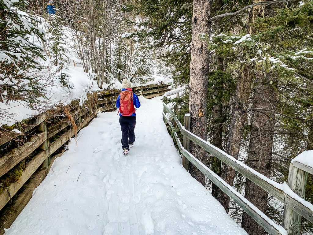 Norquay snowshoe trails in Banff, Canada