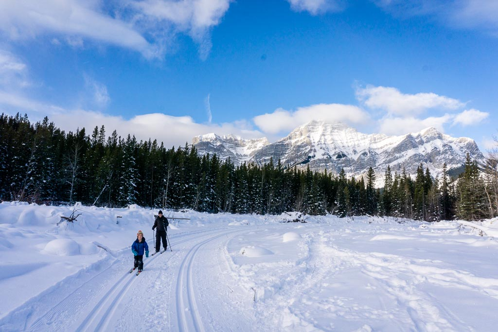 The Wedge Connector trail is a popular kid-friendly cross-country ski trail in Kananaskis