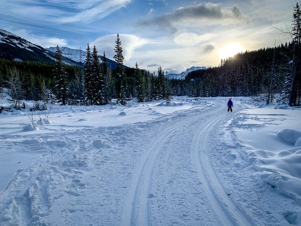 Kananaskis cross-country skiing for beginners
