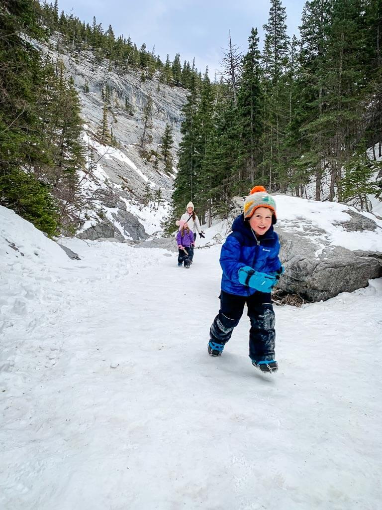 Jura Creek hike with kids in Kananaskis