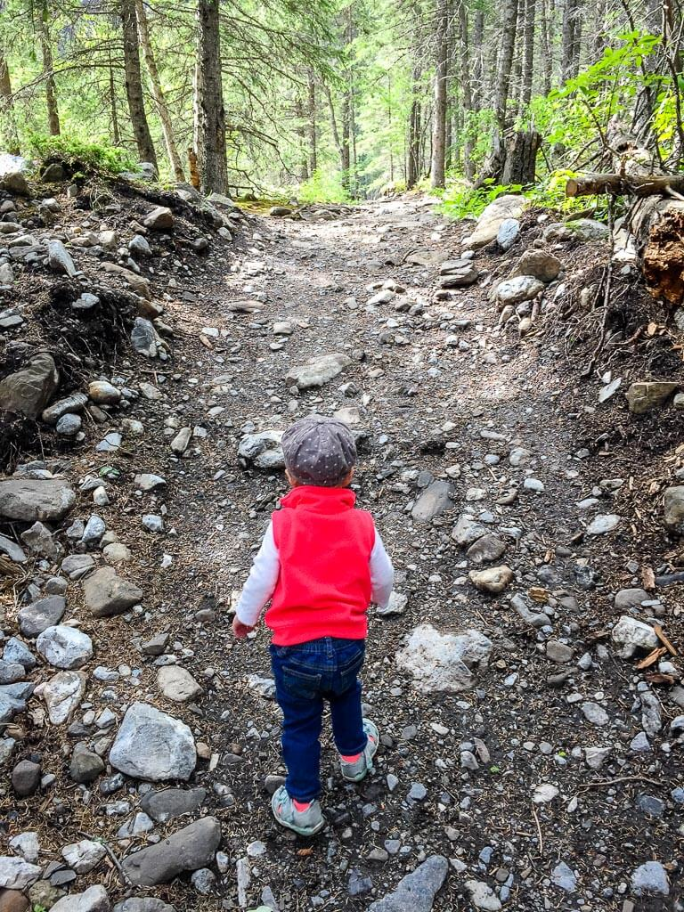 Hiking Heart Creek Trail with a toddler