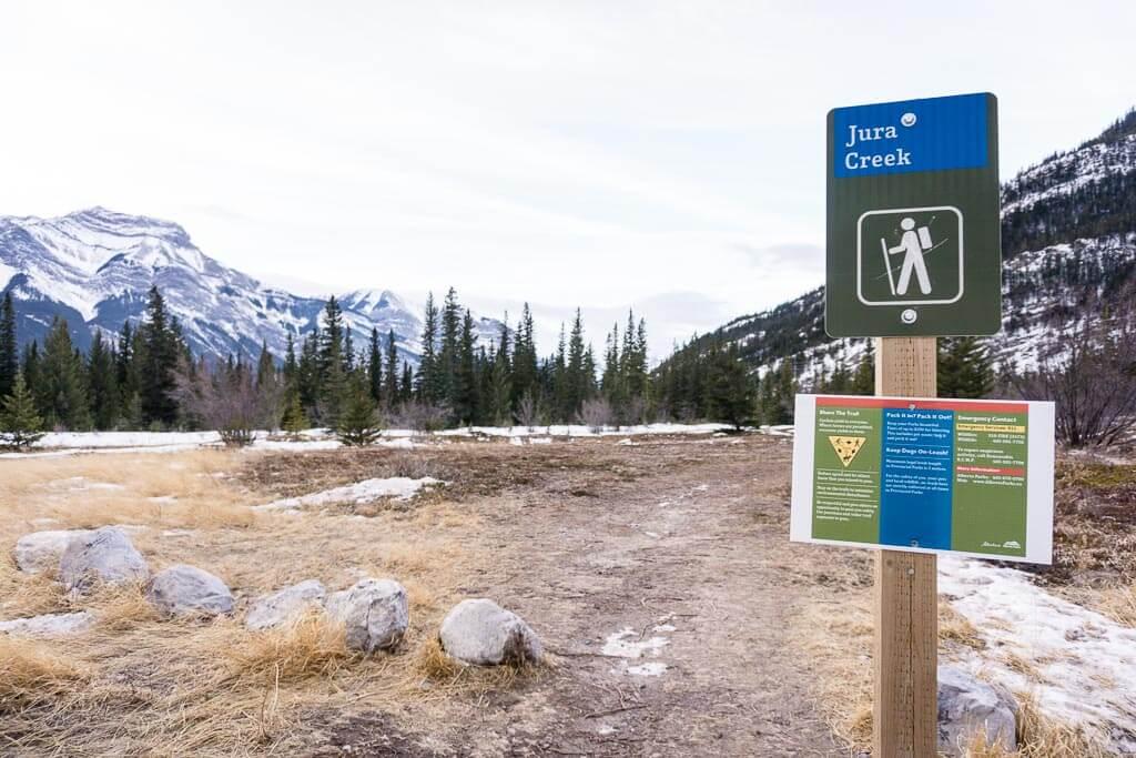 Jura Creek winter hike near Canmore, Alberta