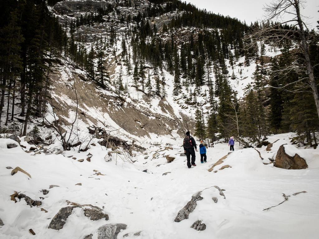 Read the Kananaskis Avalanche Report before hiking Jura Creek in winter