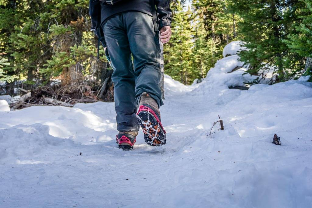 We recommend using traction devices for Chester Lake winter hiking