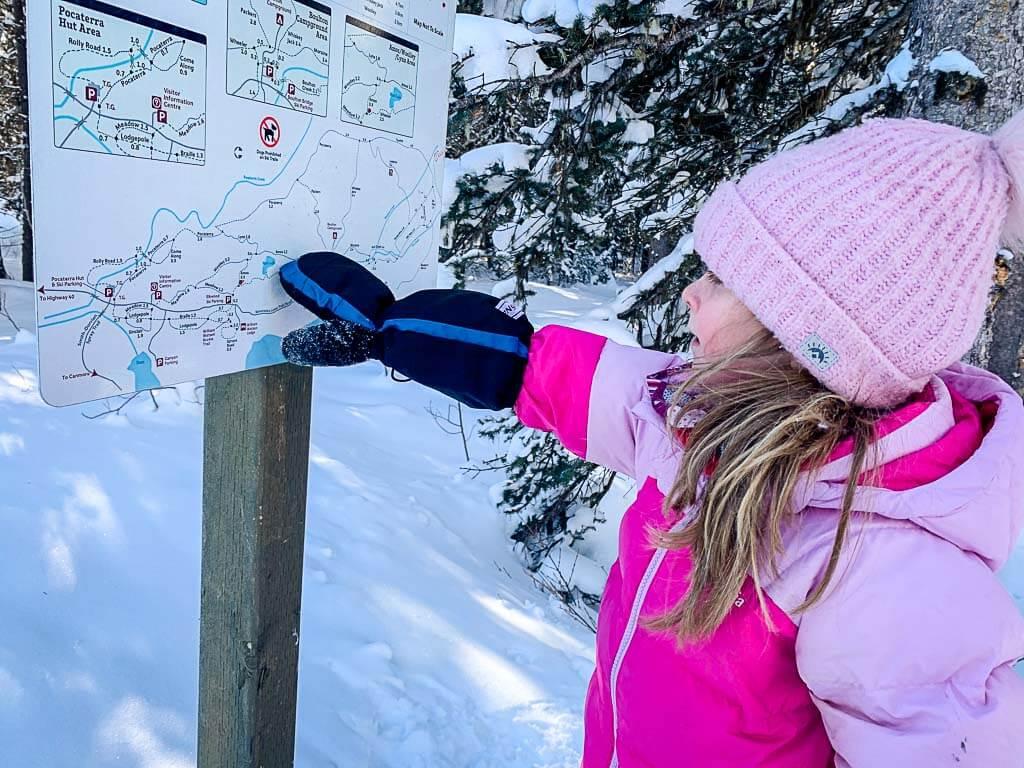 Peter Lougheed Provincial Park Cross Country Ski Trails Map along Amos XC Ski Trail