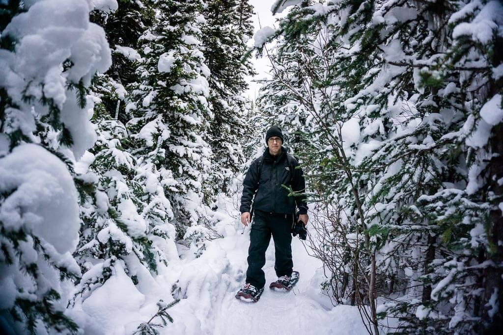 snowshoe trails - Kananaskis Mt. Shark day use area