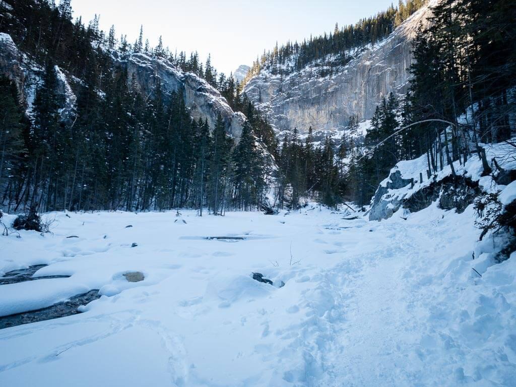 Heart Creek Hike in winter