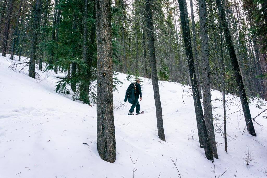 Cascade Amphitheatre is one of the challenging Banff snowshoe trails