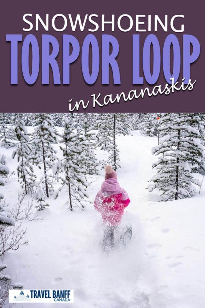 The Torpor Loop snowshoe in Kananaskis is an easy snowshoe trail that everyone will enjoy!