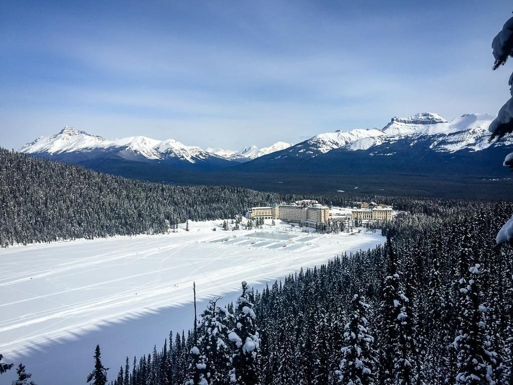 best snowshoe trails banff - Fairview Lookout