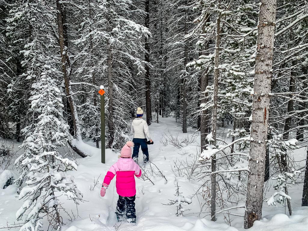 We recommend dressing in layers while snowshoeing in Kananaskis