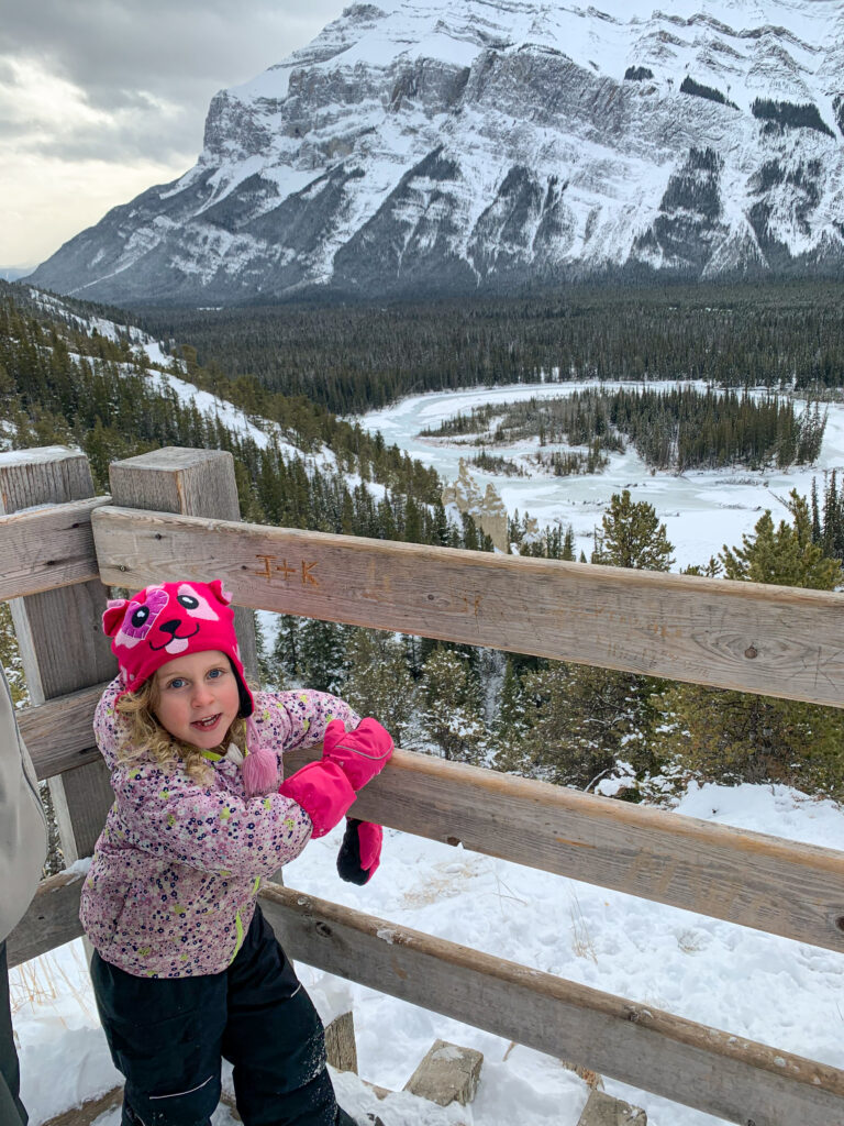 The Banff hoodoos is an easy Banff hike in January