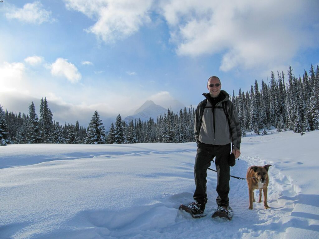 Snowshoeing is one of the chester lake winter trail options