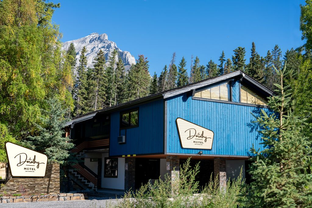 On the edge of town, backing onto a forest, the Dorothy Motel is an excellent cheap hotel in Banff for visitors without a car