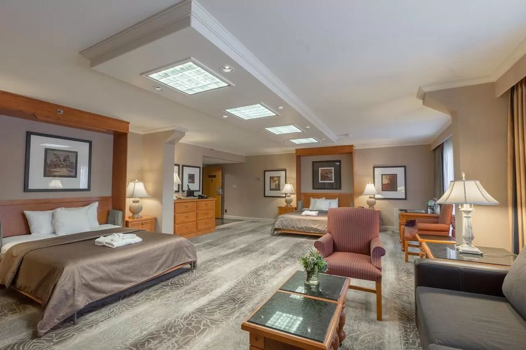 The Family Suite at the Banff Park Lodge may be the best hotel room in Banff with accommodations for 6