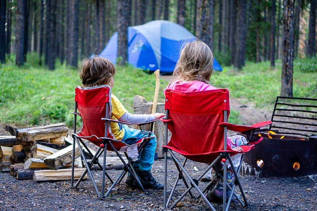 Canmore Camping with kids