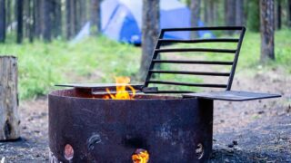tent camping in Canmore