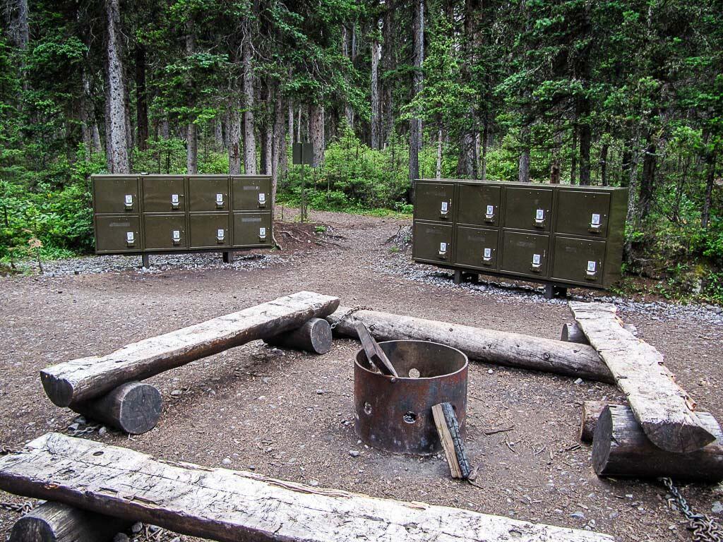 secure food storage at Forks campground in Kananaskis