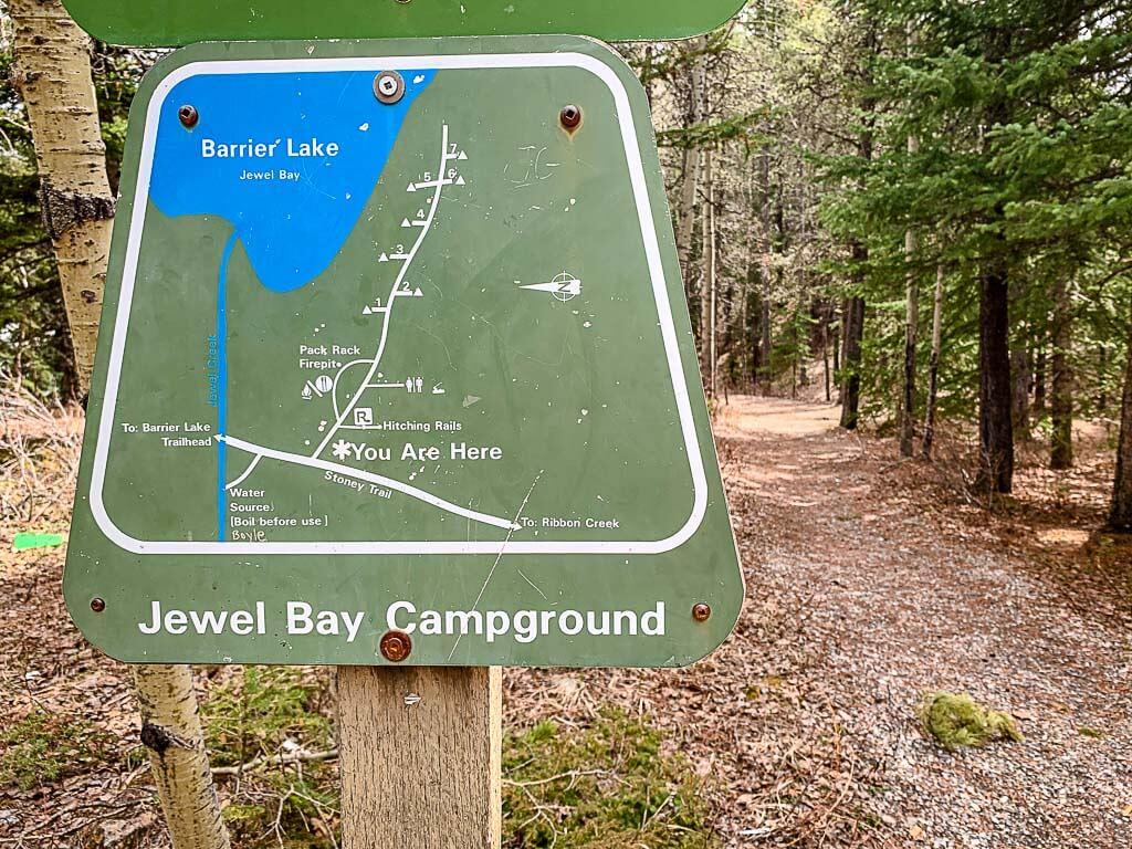 Jewell Bay backcountry campground in Kananaskis