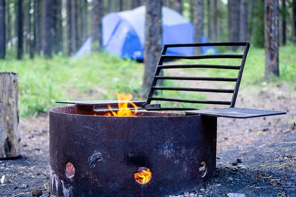 Camping in Banff near Johnson Lake