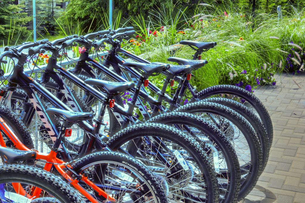 Bike rentals are one of the reasons the Tunnel Mountain Resort is one of the best family-friendly hotels in Banff