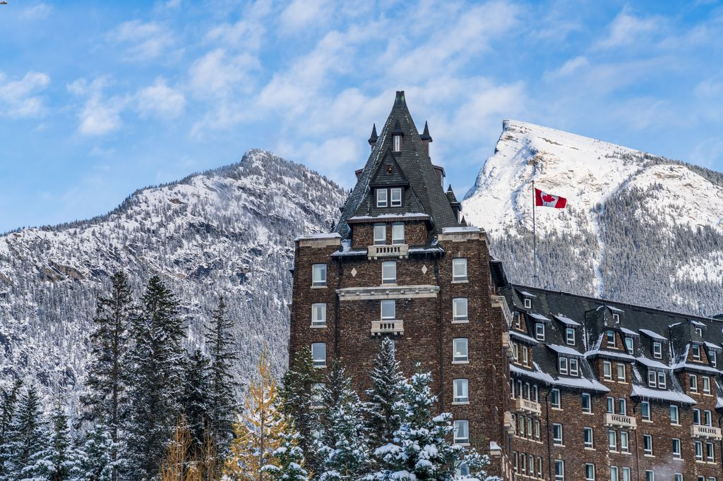 The Banff Springs Hotel is a pet friendly hotel in Banff National Park