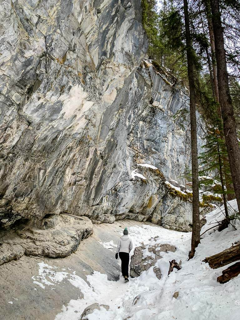 The towering cliff walls on McGillivray Canyon are beautiful