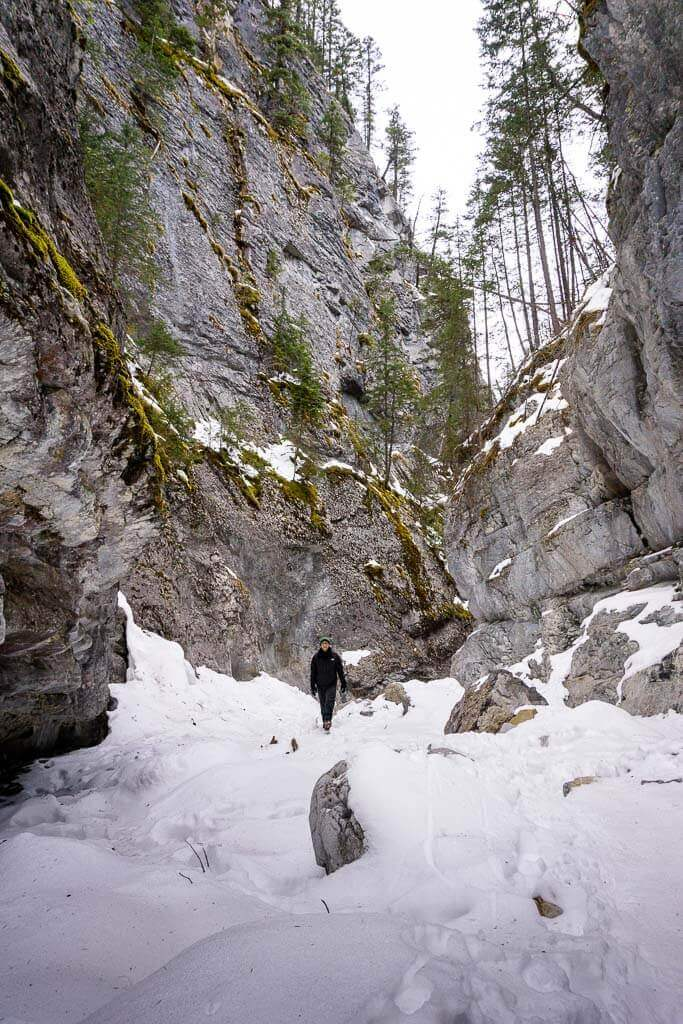 It's easy to see why McGillivray Canyon is popular with rock climbers