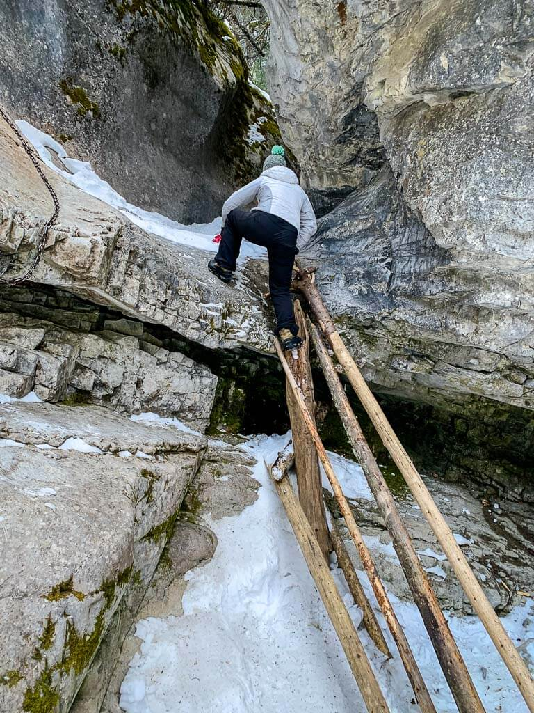 McGillivray Canyon is one of the best winter hikes near Canmore