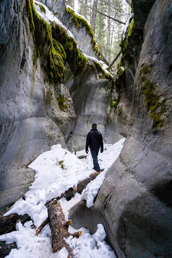 Winter hiking in Kananaskis
