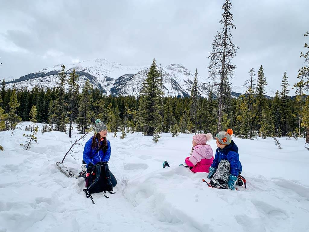 Where to stop for lunch along Frozen Toad Snowshoe Loop