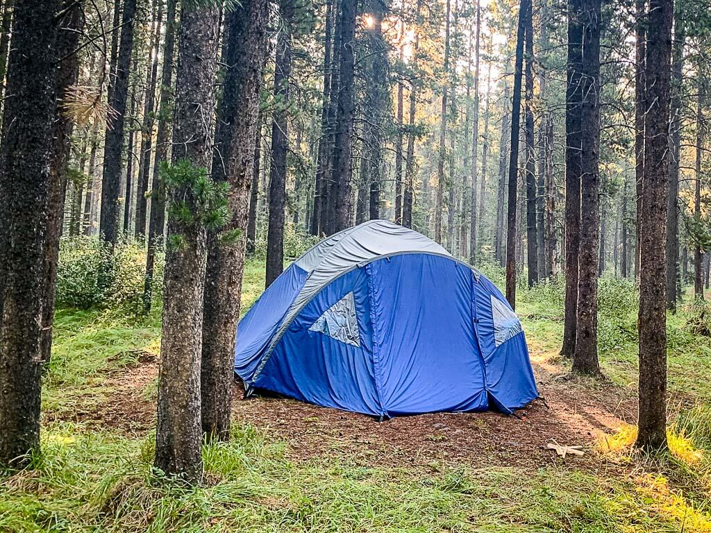 tent camping canmore